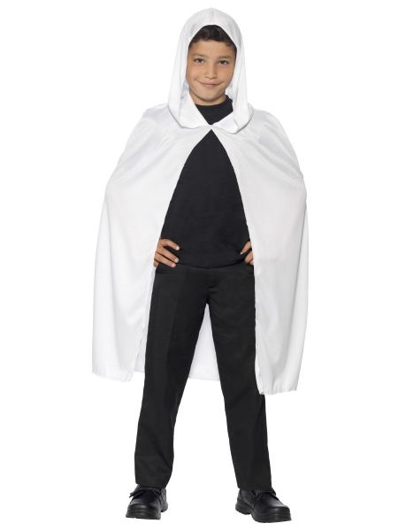 Hooded Cape Child Unisex- White